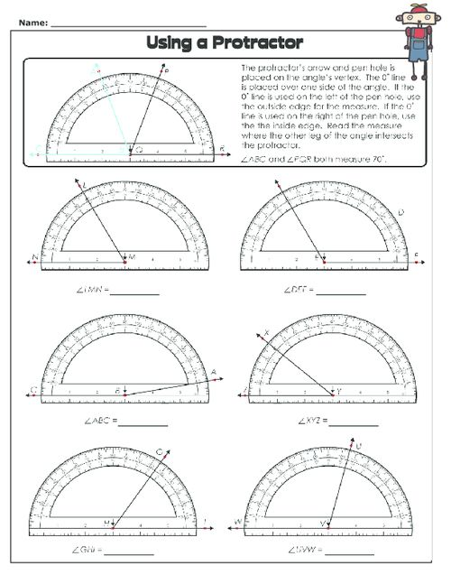 Printables Protractor Worksheets reading protractor worksheet davezan 1000 images about protractors and angles on pinterest using a worksheet