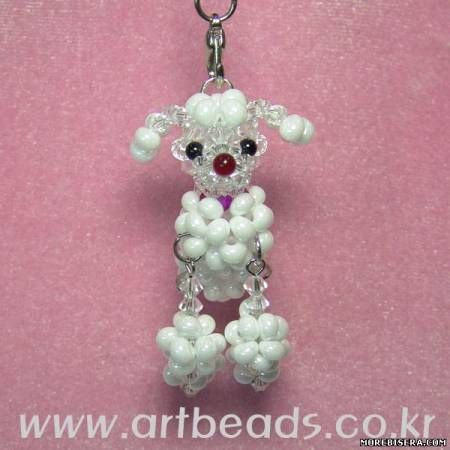Poodles of beads - Japanese scheme - Plans Weaving beads - Treasury Papers - Weave beaded ORN ...
