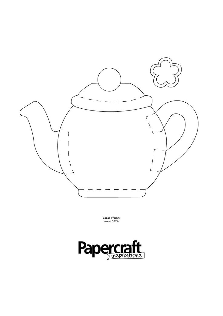 Tea Pot Shaped Template From PaperCraft Inspirations Magazine Blog Here Papercraftinspirations