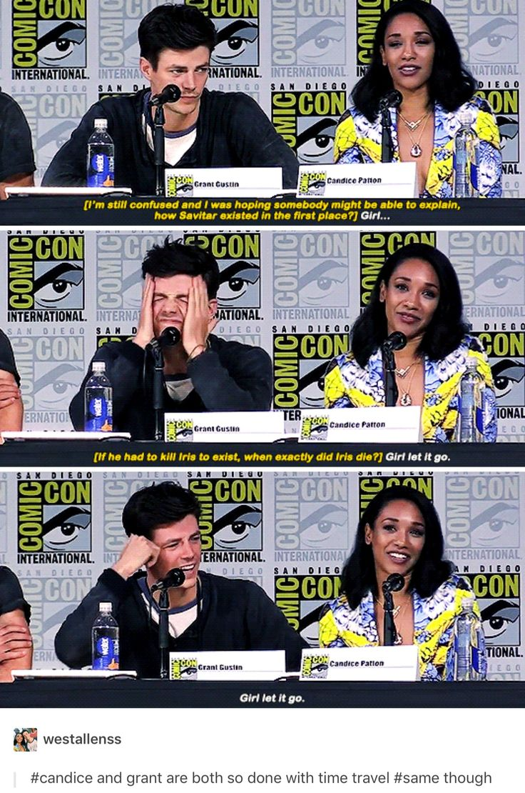 The Flash cast at SDCC 2017>>Pinning for Grant's face in the second panel
