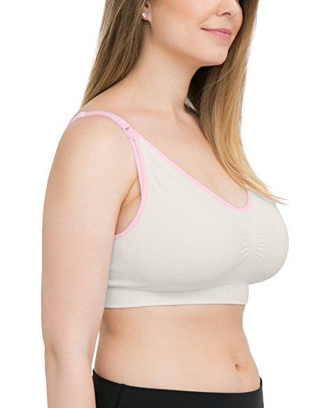 Kindred Bravely Simply Sublime Nursing Bra for Breastfeeding and Maternity (Pink, Large) at Amazon Women's Clothing store: