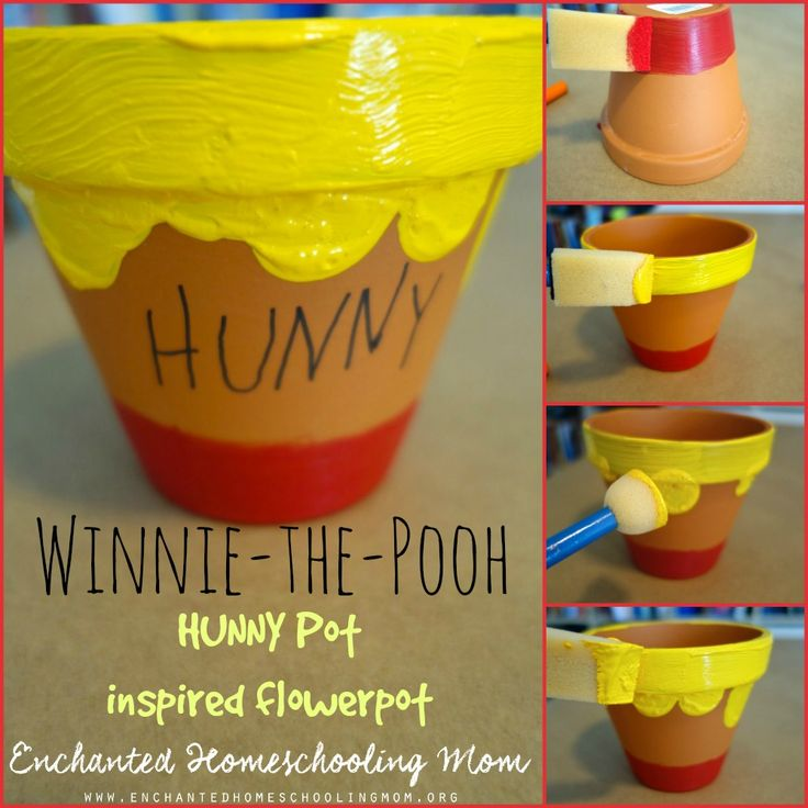 Winnie-the-Pooh Flowerpot Craft for Kids | Enchanted Homeschooling Mom | Enchanted Homeschooling Mom