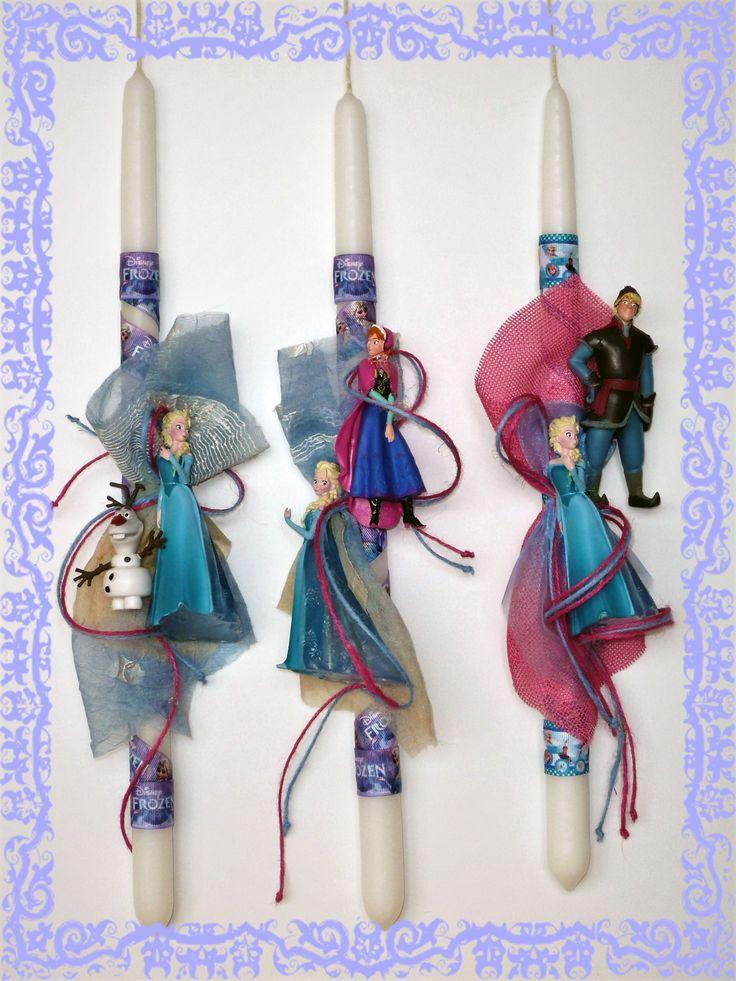 Λαμπάδες Disney Frozen Elsa-Anna-Kristoff-Olaf