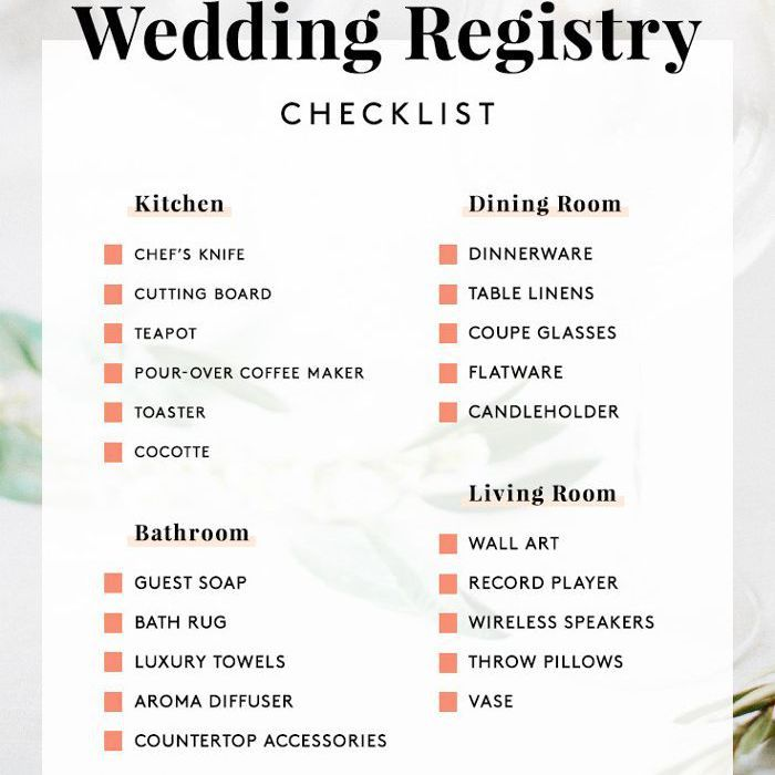 What Should You Not Put On Your Wedding Registry In 2020 Wedding Registry Wedding Registry Honeymoon Wedding Registry Checklist