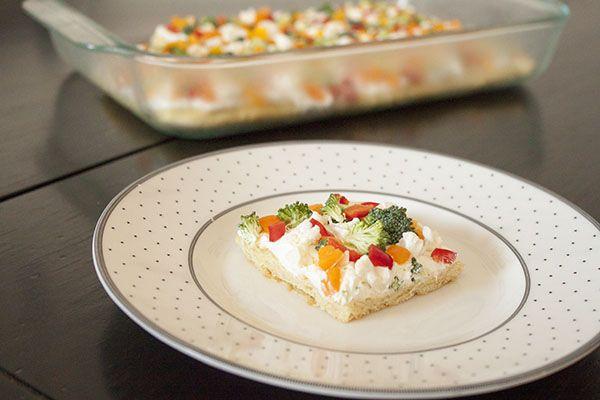 vegetable tart. An easy, cold summer dinner.