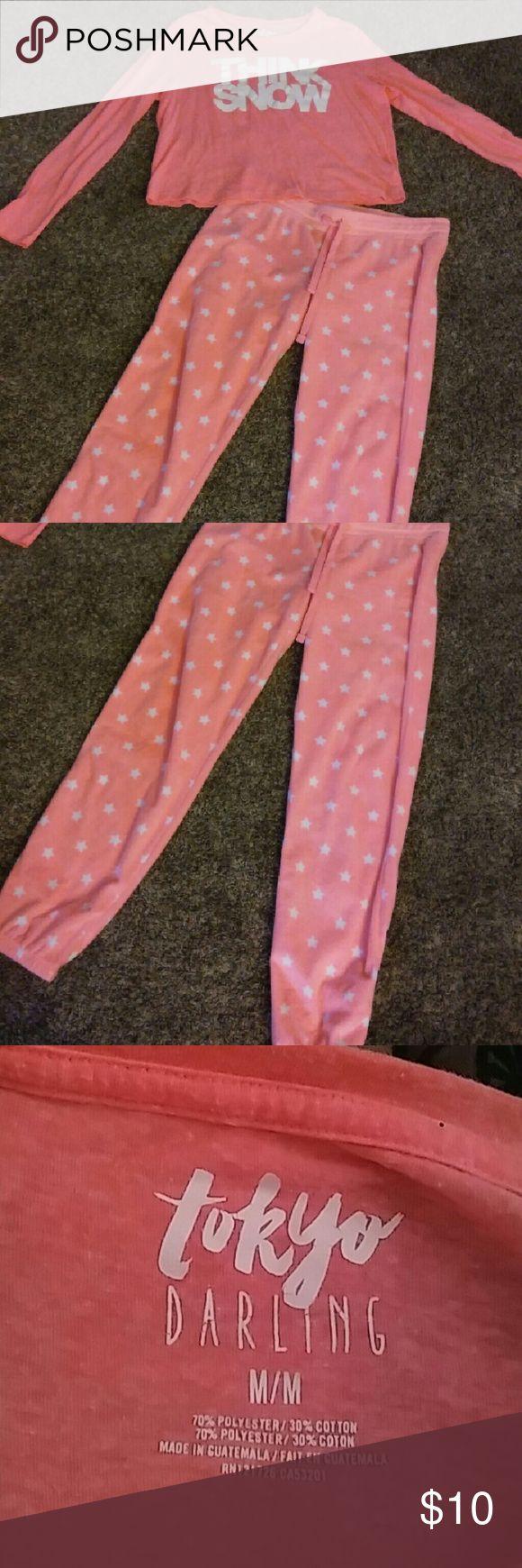 Tokyo Darling pj set Super cute warm and soft! Intimates & Sleepwear Pajamas