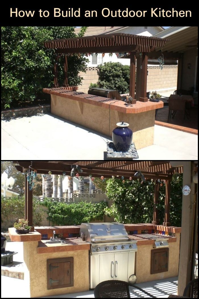 How To Build An Outdoor Kitchen Build Outdoor Kitchen Outdoor Kitchen Backyard