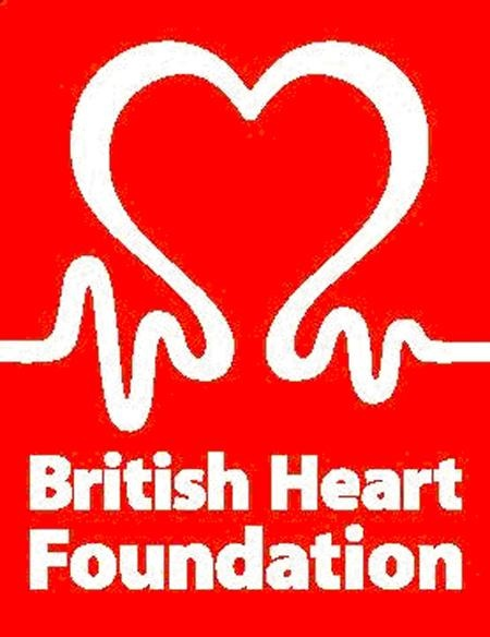 The British Heart Foundation logo works well because its a combination of a heart and a Flatline system with a big dominance of red in the background so you cant miss it.