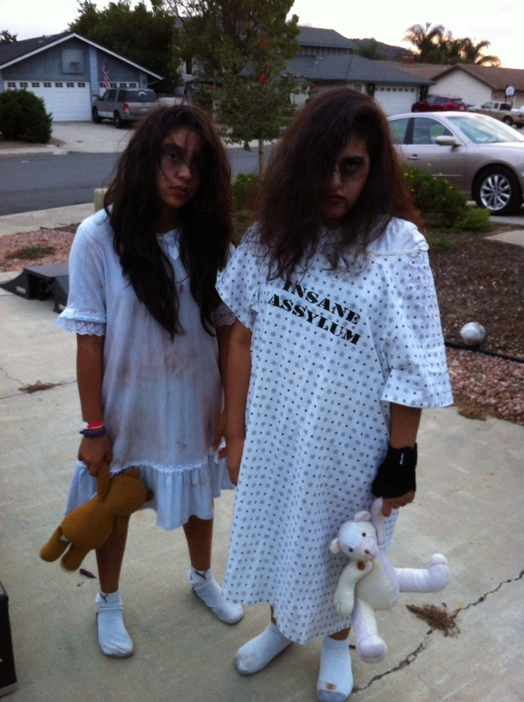 asylum patients scary girls halloween diy costumes