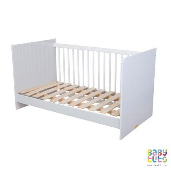 Cuna de madera blanca 3 en 1, $129.990 (precio referencial). Marca Kidscool: http://bit.ly/1JejmsW
