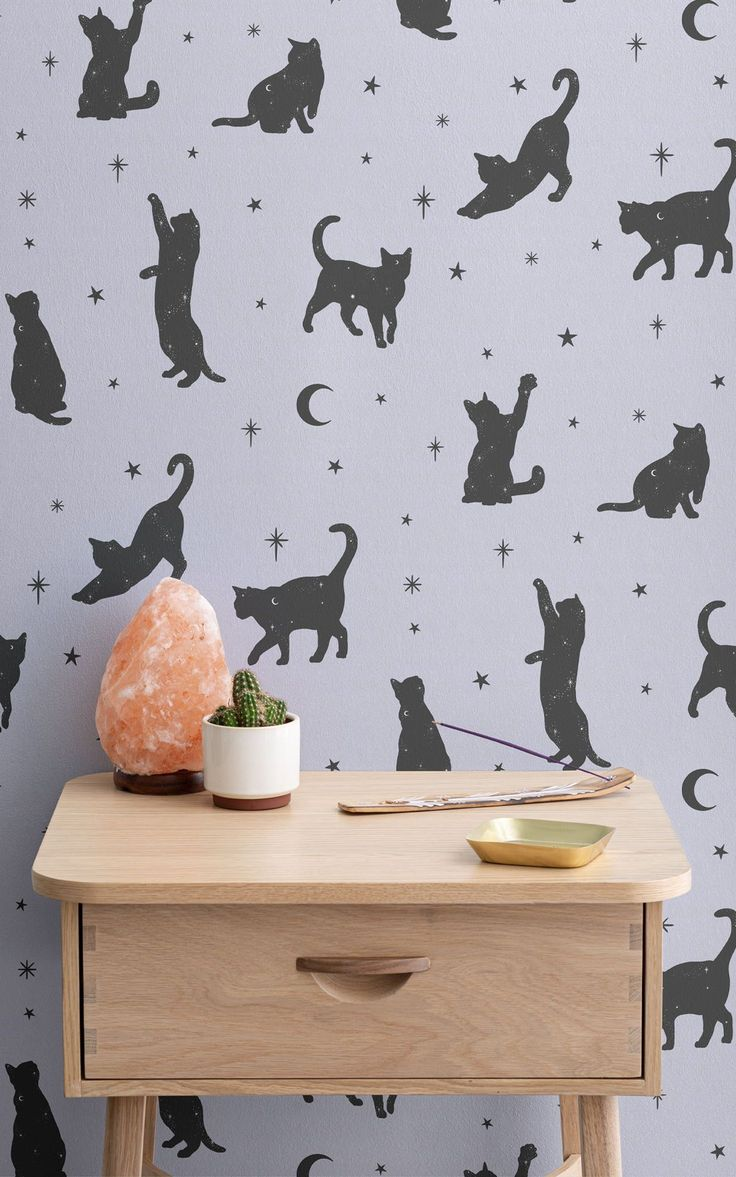 Add a spell of magic and charm to your bedroom or reading corner with this 'Salem' wallpaper pattern – named after Sabrina the Teenage Witch's sassy talking cat. It's available in white or pastel purple, and is perfect for conjuring up a magical aesthetic. Makes a cute home decoration idea for Halloween, too!