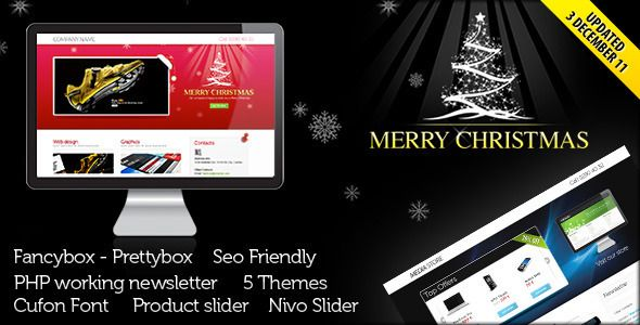 Landing Page for Christmas Offer or Portfolio Template. Live Preview & Download: http://themeforest.net/item/landing-page-for-christmas-offer-or-portfolio/141655?s_rank=679&ref=yinkira