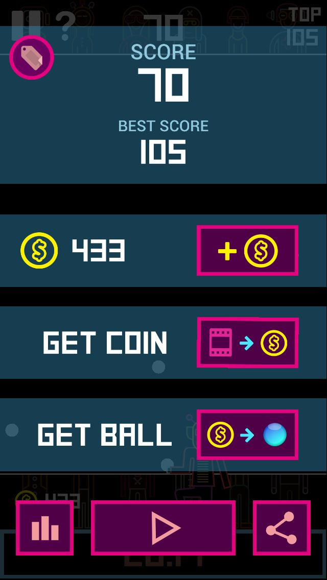 Swag! I finally broke 70 stage in #BBTAN Can you beat me?