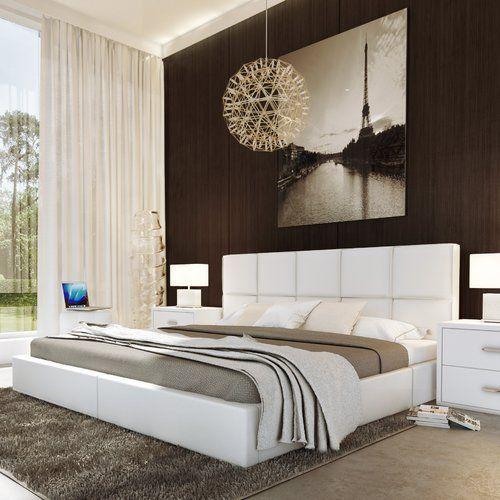 Wade Logan® Maryam Upholstered Platform Bed with Lift and Storage