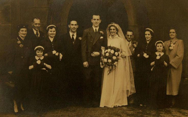 Nana and Grandad's Wedding Day December 12th, 1954.