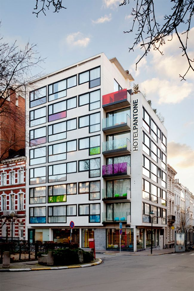 Pantone Hotel is a boutique hotel in Brussels devoted to colour and designed around the famous Pantone Matching System.