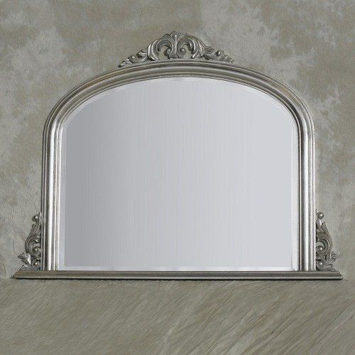 Silver french arched overmantle mirror - Buy Now at Scoutabout Interiors