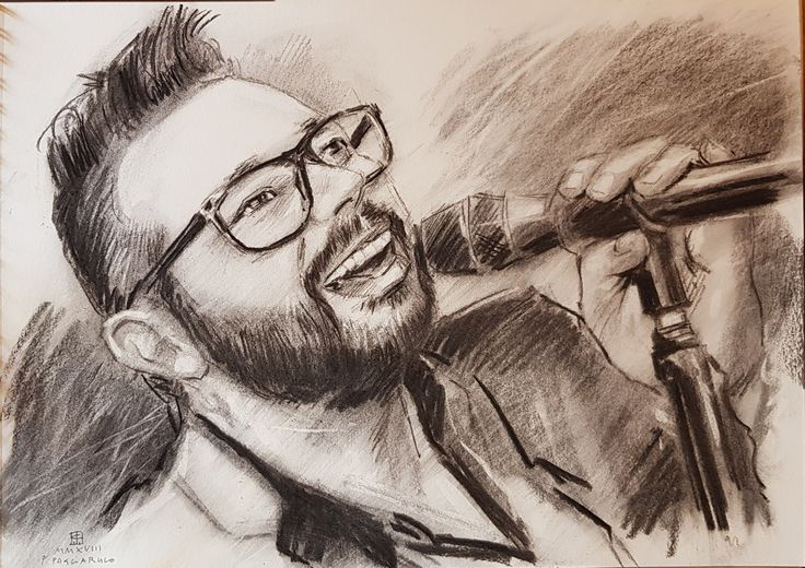 Ritratto del cantante | Altamiradecor, bottega d'arte di Franco Pagliarulo