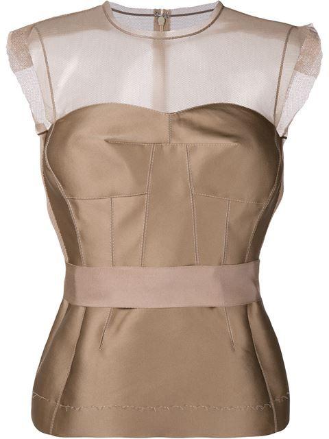 LANVIN Sleeveless Silk-Blend Top. #lanvin #cloth #top