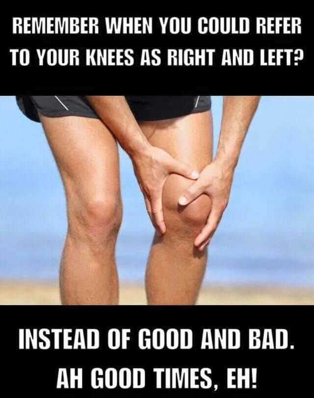 Image result for remember when you could refer to your knees