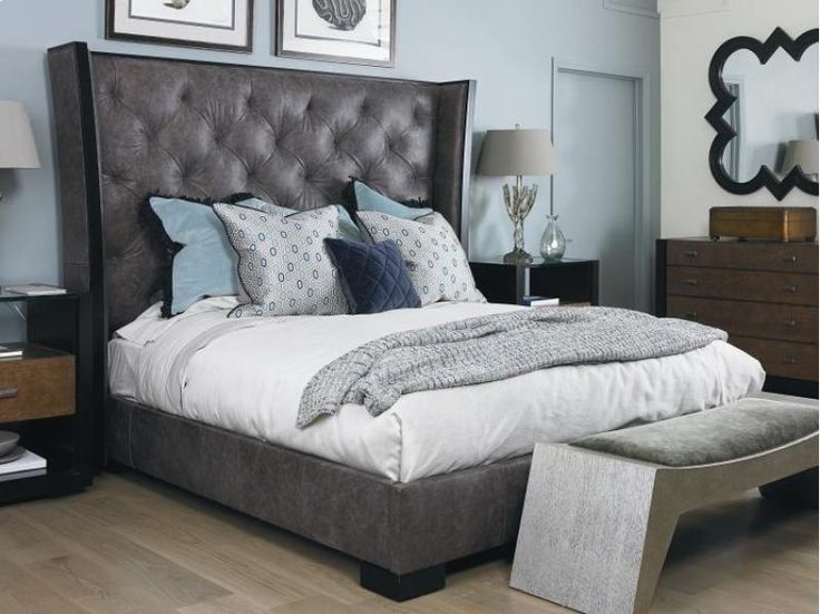 701126 In By Century Furniture In SAMUELu0027S FURNITURE, WA   Crescent Bed  With Upholstered Headboard