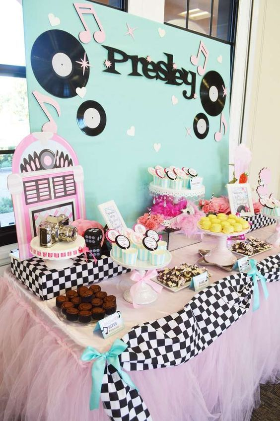 50's sock hop birthday party! See more party planning ideas at CatchMyParty.com!:
