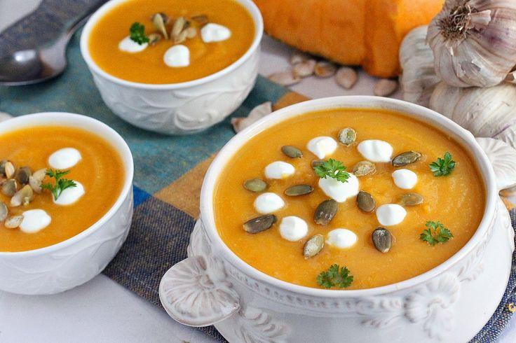 Krem dyniowo czosnkowy  #halloween #zupa #krem #przepisy #inspiracje