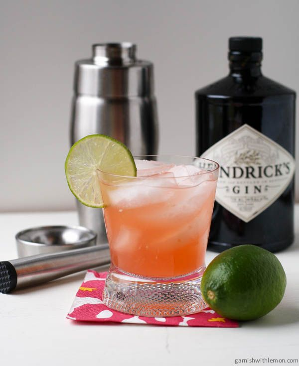 A refreshing spring cocktail made with Aperol, Hendricks Gin, simple syrup, muddled cucumber and lime juice.