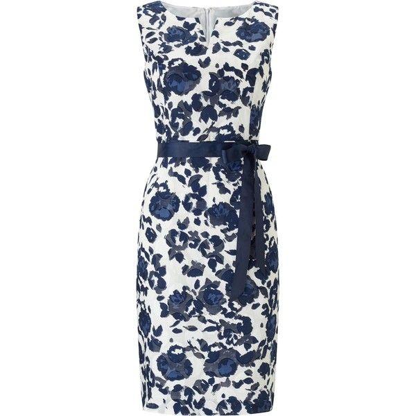 Precis Petite Petite Clip Spot Dress (520 RON) ❤ liked on Polyvore featuring dresses, women dresses, petite dresses, cotton shift dress, blue polka dot dress, petite shift dress and floral summer dresses