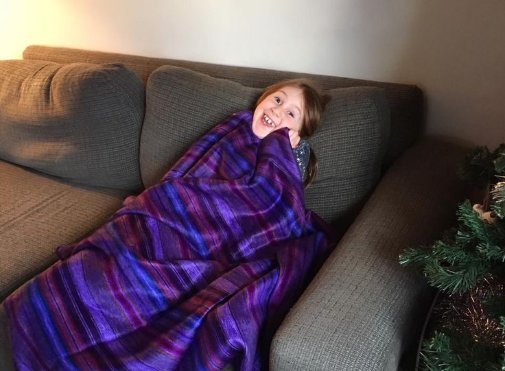 One happy customer! #happycustomer #afamilyblanket #purpleisawesome #youneedonetoo