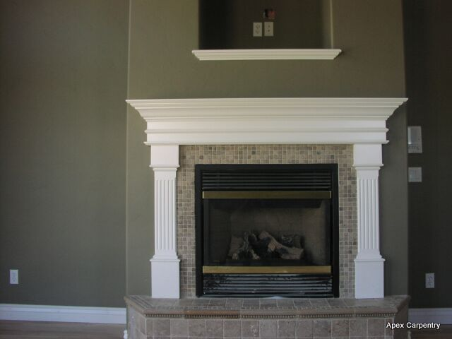 1000 ideas about white fireplace on pinterest white for Wood fireplace surround designs