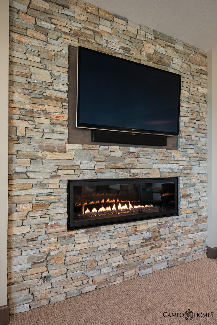 Linear Fireplace In This Master Bedroom Home Built By