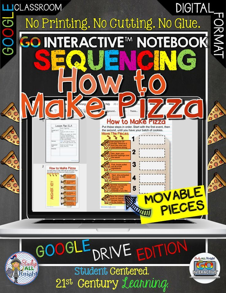 GO Interactive Notebook Sequencing How to Make Pizza Google Edition ($)