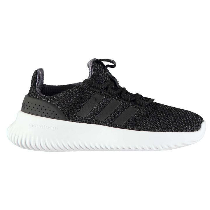 adidas Boys Trainers Adidas CloudFoam Ultimate - Blk/Blk/Wht in ...
