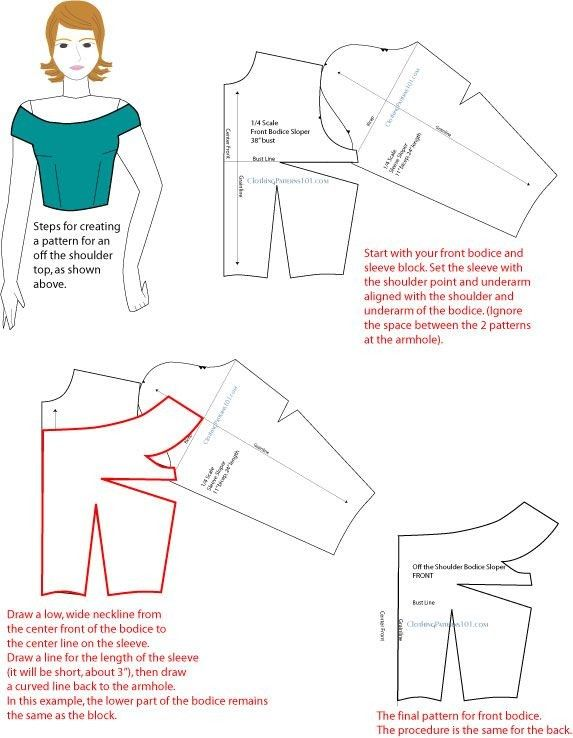 Odnoklassniki  ~~  HOW TO CREATE AN OFF THE SHOULDER TOP  ~~  PG 2 of 2  ~~  INSTRUCTIONS