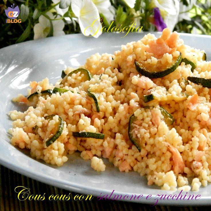 Cous cous con salmone e zucchine,