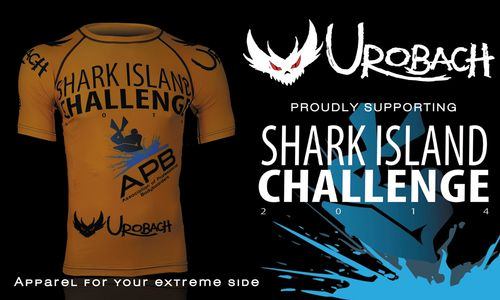 Urobach's Shark Island Challenge 2014 Bodyboard Rash Guards Arrived JUST in the nick of time.  Avaialable at Emerald Surf in Cronulla and www.Urobach.com