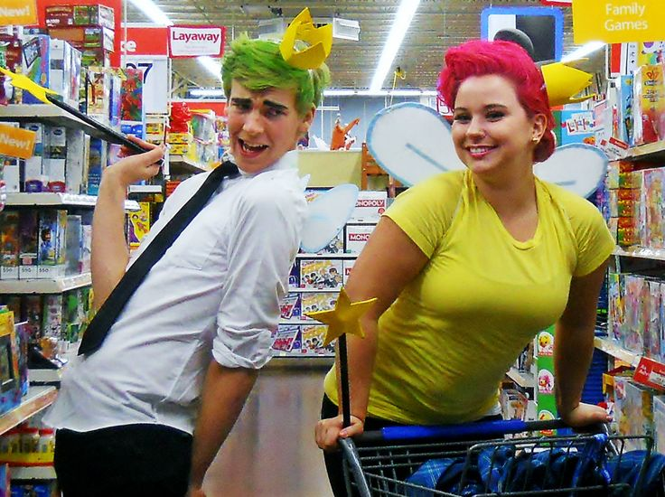 COSMO AND WANDA!!!! Add Poof for family theme costume! If we have another kiddo and its a boy he can be Timmy!
