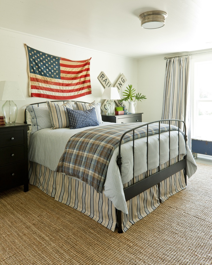 Southern living idea house 2012 americana bedroom featuring the large siena flush mount ss4016
