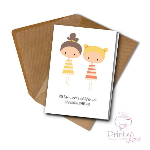 Best Friend Birthday or Special Event card by PrintsmadewithLOVE