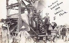 VINTAGE GOOD ROADS LABOR GANG 1911 INKSTER MICHIGAN REAL PHOTO RPPC POSTCARD
