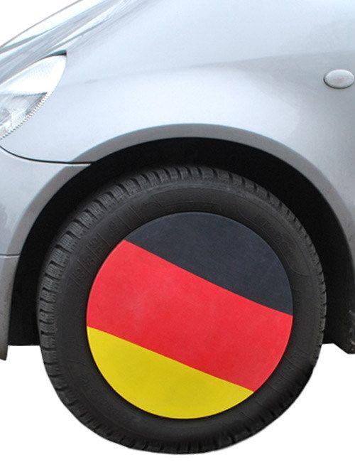 Deutschland-Fahne Auto-Felgenkappe Fussball-Fanartikel 4 Stück schwarz-rot-gelb. Aus der Kategorie Fußball Fanartikel. Auto-Deko wie Autofahnen oder Deutschland-Flaggen für die Motorhaube kennt jeder. Die Deutschland-Felgenkappe fällt dagegen richtig auf und lässt Sie und Ihre Fußball-Mannschaft sicher durch die EM Richtung Sieg fahren!