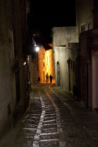Sicily, Italy    Photograph by Adamo Banelli, My Shot    Timeworn cobblestones and narrow streets give Erice, Sicily, a cozy feel. A cable car connects the historic town, perched about a quarter of a mile (750 meters) above sea level, to the city of Trapani.