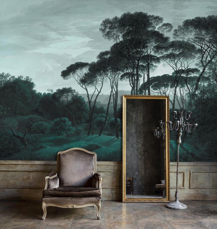 les 203 meilleures images du tableau papier peint au fil. Black Bedroom Furniture Sets. Home Design Ideas