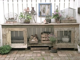 Vintage Potting Bench