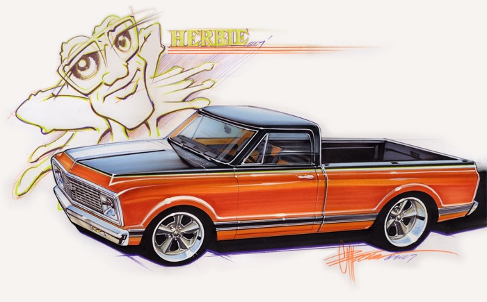 how to draw cars like chip foose