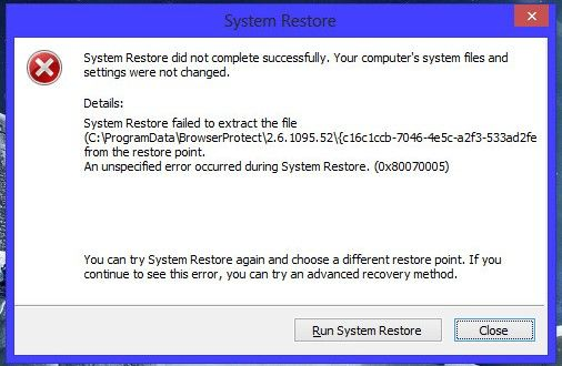 Fix Windows 7, Windows XP System Restore Failed Problem [Guide] http://www.yologadget.com/how-to/fix-windows-7-windows-xp-system-restore-failed-problem-guide/