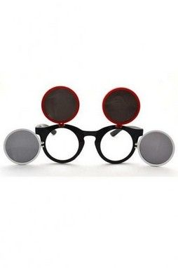 GrabMyLook Mouse Inspired Retro Vintage Round Frame Sunglasses Eyewear