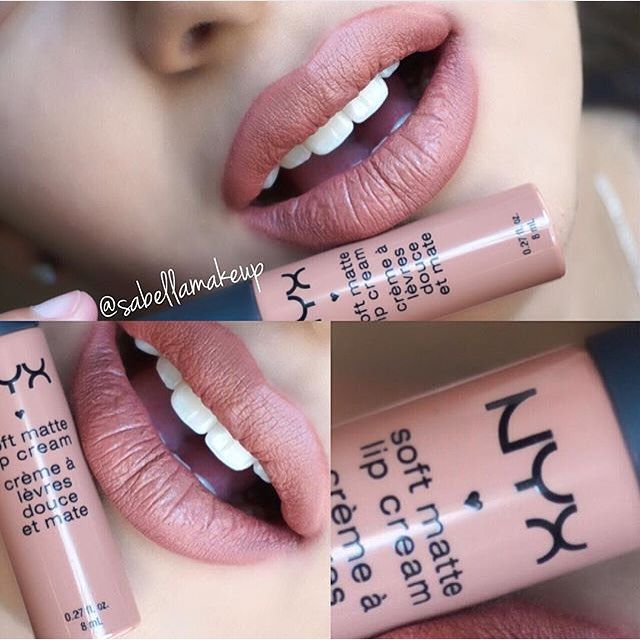 #ShareIG Such a beautiful pinky-nude Our Soft Matte Lip Cream in 'London' cc: @sabellamakeup || #nyxcosmetics #regram