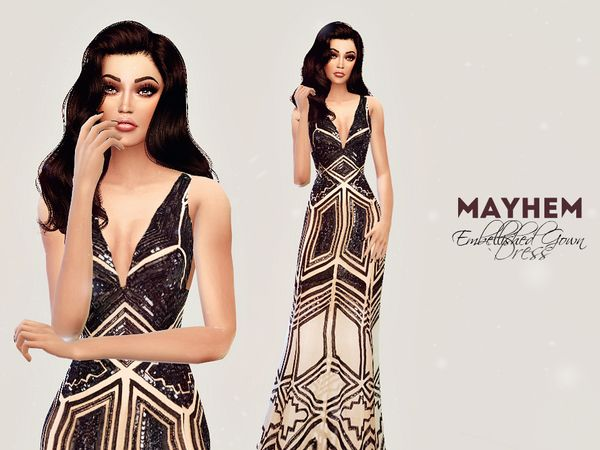 Sims 4 maxi dress you can tie